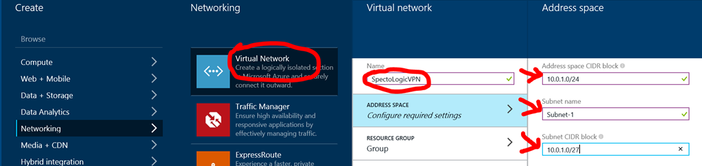 Connect ZyWALL 35 with Azure VPN site to site | spectologic