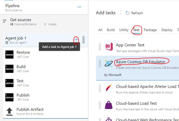 Testing with Azure CosmosDB Emulator in Azure DevOps CI/CD Pipeline