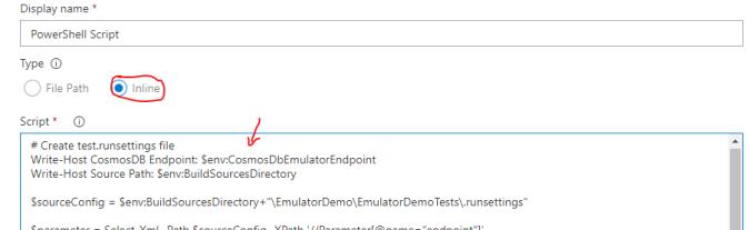Add Script To Power Shell Task