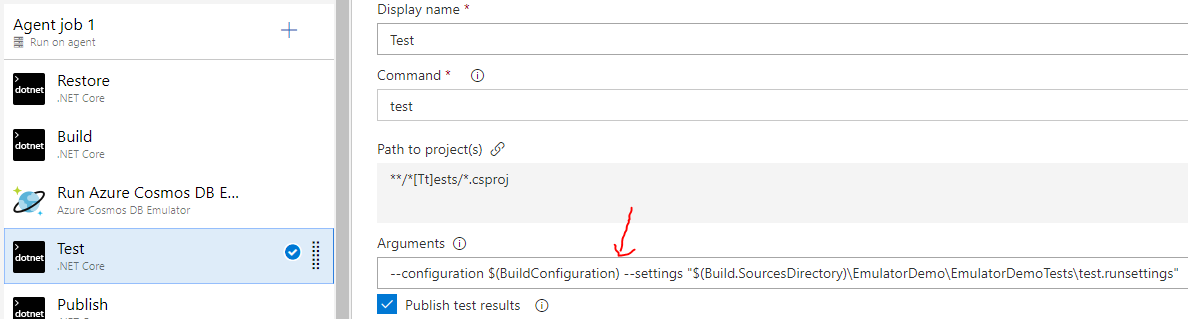 Configure NetCore Test Task